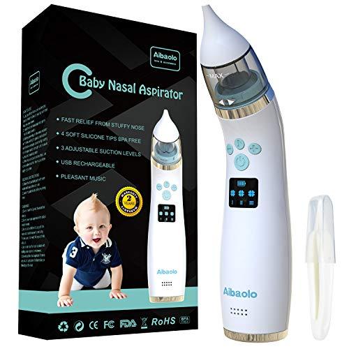 Aspiratore Nasale Neonato Elettrico USB Ricaricabile - Lavaggio Nasale con 4 Punte (2 Diverse...