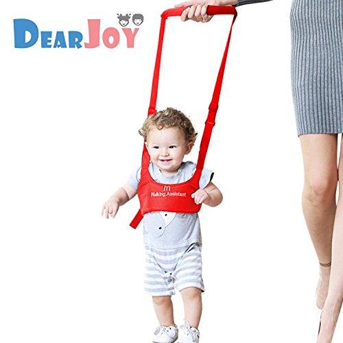 DearJoy Baby Safety Harness Belt Walking Assistant, Adjustable Shoulder & Chest Support Walker (Red)