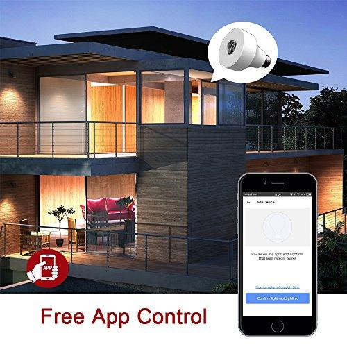 WiFi-Ampoules-par-Smart-Douille--Vis-Adaptateur-de-Base-de-Lampe-avec-Apple-HomeKit-Siri-et-Home-APP-E27