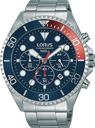 LORUS Orologio Cronografo Quarzo Uomo con Cinturino in Acciaio Inox RT317GX9