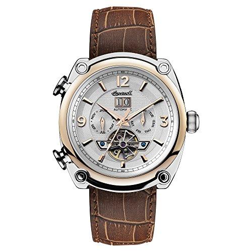Ingersoll Herren Analog Automatik Uhr mit Leder Armband I01103