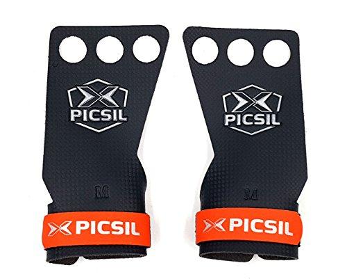 PICSIL RX Carbon 3H Guanti Crossfit Paracalli per Palestra e Sollevamento Pesi per Trazioni alla...