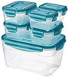 AmazonBasics Set di contenitori per alimenti, 6 pezzi