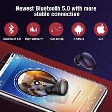 HolyHigh-Auriculares-Bluetooth-50-3000mAh-CVC80-Cascos-Bluetooth-Inalmbricos-IPX5-Impermeable-con-Micrfono-y-Caja-de-Carga-para-Deportes-Gimnasio-para-iPhone-Android-Samsung-Huawei