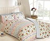 Ideal Textiles Rapport Rise & Shine, diseño Floral, Funda de edredón, edredón Conjunto, Rosa, Solo tamaño