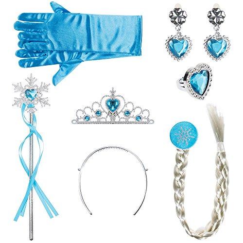 Lictin Corona Principessa Bambina Bacchetta Magica - 6 Pezzi Accessori Principessa, Diadema, Guanti,...