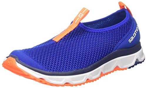 Salomon RX Moc 3.0, Zapatillas de Senderismo para Hombre, Azul Oscuro/Naranja (Surf The Web/White/Shocking Orange), 42 EU