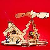 Sikora P30de 2en 1Madera té luz Pirámide de Navidad con funktionsfähigem Incienso Diseño de Casa Hansel y Gretel