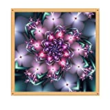 Ningsun Fiore 5D DIY Diamond Painting Craft Kit Pittura da Letto Parete Finestra Decorazione Domestica/5D Ricamo completo Dipinti Strass incollato DIY Diamond Painting Cross Stitch (A, 1PC)