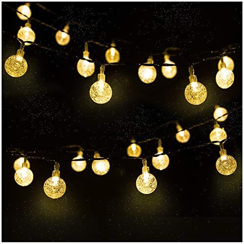 Catena Luminosa, Mr.Twinkelight 4.5M 30LED Luce Stringa Solare di Crystal Globe, Luce Esterno Ideale...