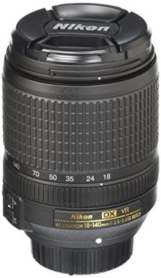 Nikon AF-S DX NIKKOR 18-140 f/3.5-5.6G ED VR - Objetivo para Nikon (Distancia Focal 18-140mm, Apertura f/3.5-5.6, estabilizador, diámetro: 67mm) Color Negro - [Versión Nikonistas]