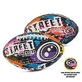 Optimum Unisex Street American Football-Multi-Colour, Multicoloured, Official Full Size