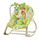 Fisher-Price - Hamaca crece conmigo monitos divertidos, color verde (Mattel CBF52)