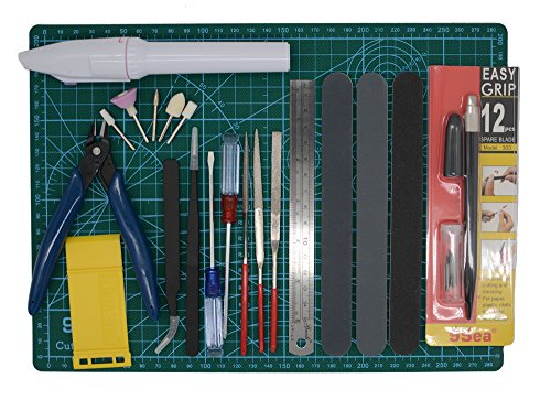 Gundam Modeler Builder\'s Tools Craft Set Kit 16 PCS For Professional Bendai Hobby Model Assemble Building