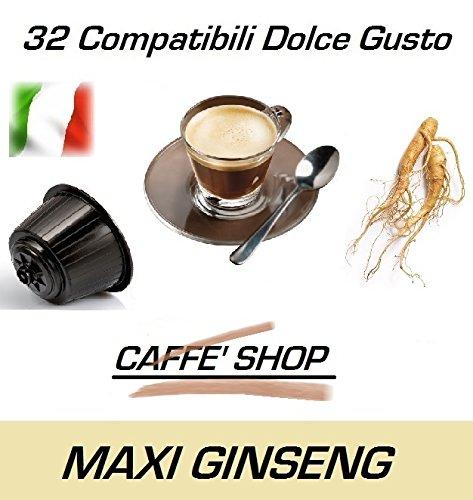 Capsule Compatibili Nescafè Dolce Gusto, 32 Capsule Miscela 'Maxi Ginseng' Linea Espresso