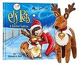 Elf en el estante 'una tradición de reno' reno elfo mascotas
