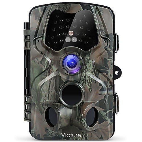 """Victure Wildkamera Fotofalle 12MP 1080P Full HD Jagdkamera 120°Weitwinkel Vision Infrarote 20m Nachtsicht wasserdichte IP66 Überwachungskamera mit 2.4\"""" LCD Display"""
