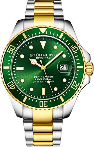 Orologio Uomo Stuhrling Original Divers - Orologio sportivo Pro con corona a vite e resistente...