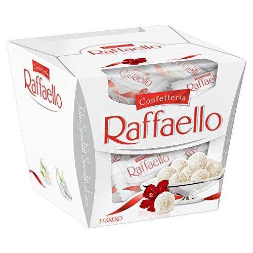 Ferrero Rocher Raffaello Coconut And Almond White Chocolate Truffles, 15 Piece Box