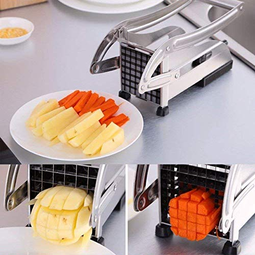 ALXIND Stainless Steel Home French Fries Potato Chips Strip Cutting Cutter Machine 1 pcs.