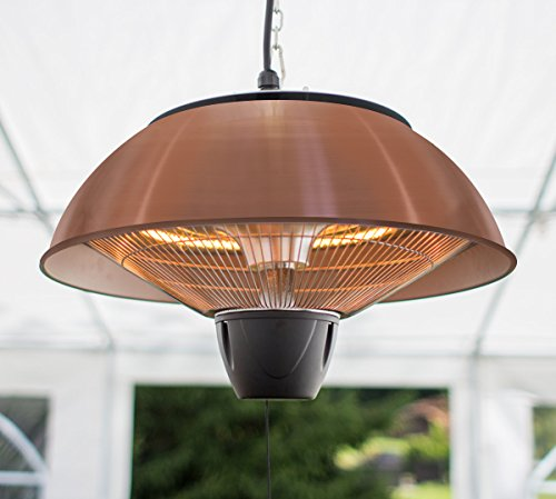 Firefly 1.5kW Ceiling Hanging Copper Halogen Bulb Electric Infrared Patio Heater