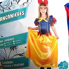 Disfraz de Blancanieves. Talla 7/9 años.