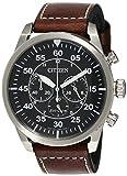 Citizen Mens Chronograph Quartz Watch with Leather Strap CA4210-16E