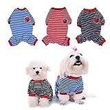 WIDEN Cute Pet Dog Pajamas Jumpsuits Puppy Clothes Cotton