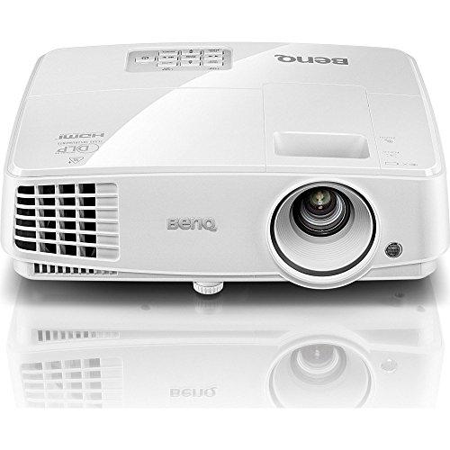 BenQ MS527 DLP-Projektor (3D über HDMI, SVGA, 800 x 600 Pixel, 3300 ANSI-Lumen, Kontrast 13000:1, VGA, Smart Eco) weiß
