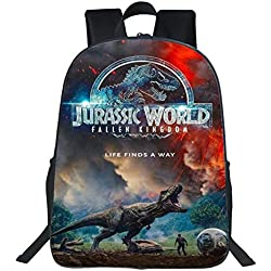 Backpack Mochila para Niños Impreso 3D Dinosaurio Bolso De Escuela Primaria Jurassic Park Mochila 3