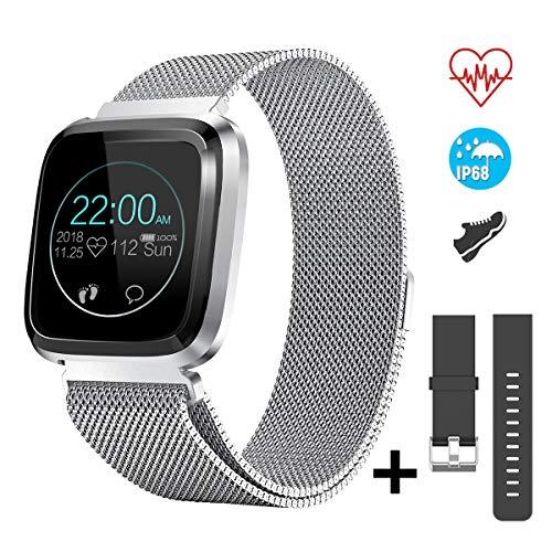 CatShin Fitness Tracker con Cardiofrequenzimetro Contapassi Notifiche Chiamate,CS08 Impermeabile...