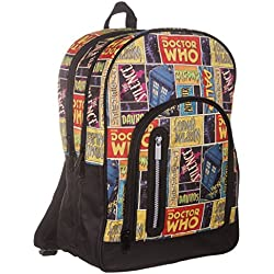 Doctor Who® Retro Comic grande mochila Back Pack mochila Bolsa-DW serie de televisión de la BBC oficial Merchandise