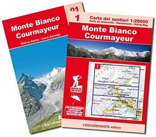 Monte Bianco, Courmayeur. Con Carta geografica ripiegata: Carta dei sentieri 1:25.00