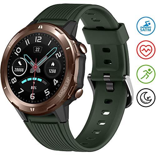 UMIDIGI Uwatch GT Smartwatch Orologio Fitness Uomo Donna Impermeabile 5ATM Smart Watch Cardiofrequenzimetro da Polso Contapassi Smartband Activity Tracker Bambini Cronometro per Android iOS - Verde