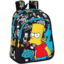 Safta 077152 The Simpsons Mochila Escolar, Color Negro