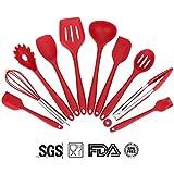 Soledì 10 Pezzi Utensili da Cucina in Silicone Alimentare Prive di BPA Termoresistente -40℃~+230 ℃