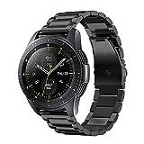 Fintie Correa para Samsung Galaxy Watch Active / Galaxy Watch 42mm / Gear Sport / Gear S2 Classic / Huawei Watch 2- 20mm Pulsera de Repuesto de Acero Inoxidable Sólido de Enlace de Metal, Negro