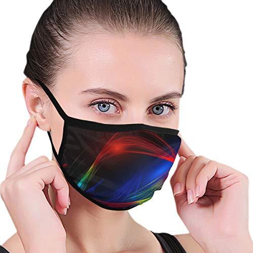 Abstract Line Wave Design Pattern Frattale Energia Faccia Bocca Maschera Polvere Maschere Filtro Maschere di Sicurezza per Uomini Donne Sport All'Aperto Personalizzato