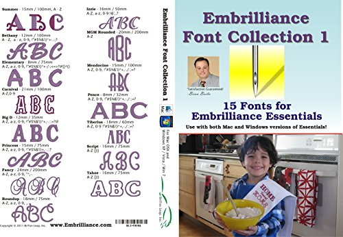 Embrilliance Embrilliance Font Collection 1 Embroidery Software for Mac & PC