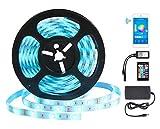 Led Smart Wifi Strip - GALOOK Striscia Luminosa a Colori WiFi Impermeabile 5M 5050RGB 150 LEDs Striscia Luci di Natale con Telecomando IR Compatibile con Alexa Echo, Google Home, Nest Labs