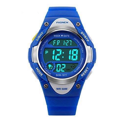 b9a8f8d5418bef Hiwatch Orologio Bambino Sportivo 164 Piedi Impermeabile Orologio Digitale  a LED Blu