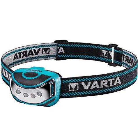 Varta 4 x 5 mm LED Outdoor Sports Head Light H10 (inkl. 3x High Energy AAA Batterien Kopfleuchte Taschenlampe Flashlight Stirnlampe robustes (Falltest 2 m) und spritzwassergeschütztes IPX4 Gehäuse)