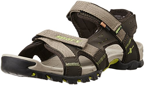 Sparx Men's SS0447G Camel and Florescent Green Athletic and Outdoor Sandals - 8 UK/India (42 EU) (SS-447)