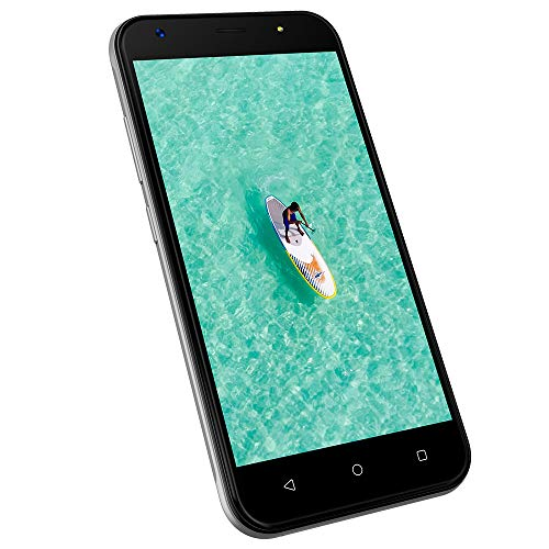 Dual SIM Handy ohne vertrag günstig 3G, 1GB+8GB ROM, 5 Zoll Dual SIM Handys Android 7.0, HD 1280 * 720 Display, Kamera 8MP+5MP, 2400mAh Akku Wieppo S5(Silber)