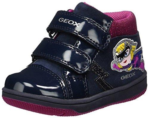 Geox B New Flick E E, Scarpe da Ginnastica Basse Bimba, Blu (Navy), 25 EU
