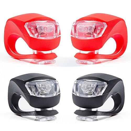 Set di 4 Luce Bicicletta, ZeWoo LED Luci Bici, Illuminazione Bicicletta Set Impermeabile - Non...