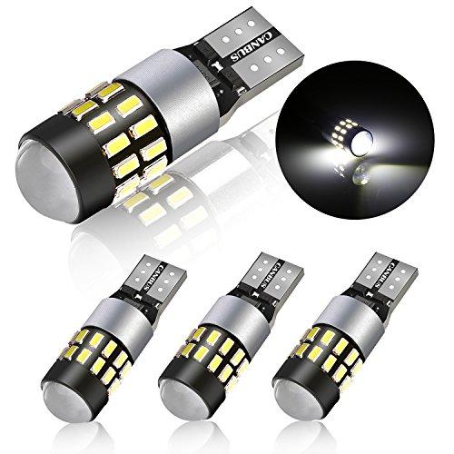 Luci Posizione Led 4 Pack LED T10 W5W 24-SMD 3014 Chipsets Lampadine LED Auto, POMILE DC12 V - 24 V...
