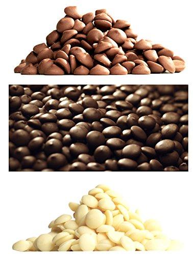 Callebaut 3 x 1kg Bundle - Chocolat de Couverture au Lait, Noir & Blanc Belge - Finest Belgian Chocolate (Callets) Lot de 3 x 1kg 27