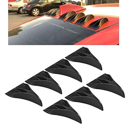 7PCS coche universal Negro garra del águila de estilo de aleta de tiburón difusor Vortex Generador spoiler de techo duradero