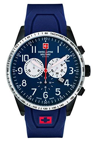 Swiss Alpine Military by Grovana Herrenuhr Chrono 10 ATM Blue 7082.9875SAM